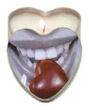 Edible Heart Candle – Chocolate – EBHSCK005