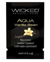 Wicked Aqua Water Based Lubricant Vanilla Bean .1oz – TCN-WS3300