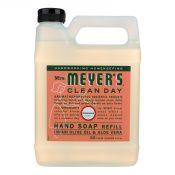 Mrs. Meyer's Clean Day – Liquid Hand Soap Refill – Geranium – Case of 6 – 33 fl oz. – 1205384