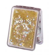 Set of 2 Quicksand Compact Mirrors Portable Double-sided Makeup Mirrors #04 – BC-BEA3785121-EMMA06797