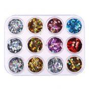 12 Colors Charming Nails Art Design Decorations – A4 – GJ-BEA13106071-JEN00260