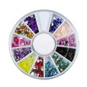 3D Design Nail Art Different DIY Nail Art Diamond Stud Wheel Manicure, B – KE-BEA11063481-JELLY03011