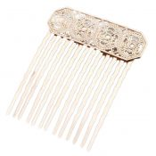 3 Pcs Metal Side Comb Chinese Old Style Hairpin Decorative Hair Combs DIY Bridal Hair Accessories, KC Gold – PS-BEA3784401-DORIS00500-RP