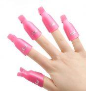 10 PCS Plastic Nail Art Soak Off Cap Clip/Nail Accessory, Pink – PS-BEA3784911-KARY00718