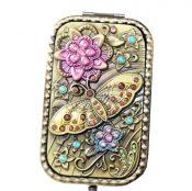 Vintage Travel Pocket Mirror Compact Handbag Mirror Mini Purse Makeup Mirror #1 – ST-BEA3785121-ERIC00056