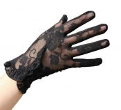 1 Pair of Women Summer Driving Gloves UV Protection Lace Thin Gloves, Black-6 – BC-HEA13106341-EMMA05580
