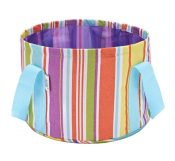 Foldable Washbasin Collapsible Bucket Portable Travel Washtub Colorful Stripe – BC-HEA7730193011-EMMA01220