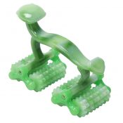 Body Muscle Massage Roller Manual Massager for Back Neck Leg Body Muscle Pain Relieving – Green – PL-HEA16303071-KELLY00133-RP