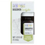 Aura Cacia – Discover Essential Oil – Eucalyptus – Case of 3-.25 fl oz. – 2251981