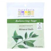 Aura Cacia – Aromatherapy Mineral Bath Balancing Sage – 2.5 oz – Case of 6 – 0682575