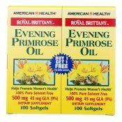 American Health – Royal Brittany Evening Primrose Oil 100+100 Softgels – 0340067