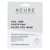 Acure – Mask – Foil – Time Fortifying Silver Foil Mask – Case of 12 – 0.67 fl oz. – 2344216