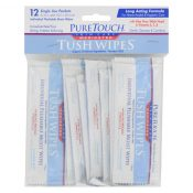 Puretouch Skin Care Medicated Tush Wipes – 12 Packets – 0155416
