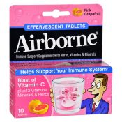 Airborne – Effervescent Tablets with Vitamin C – Pink Grapefruit – 10 Tablets – 1611839