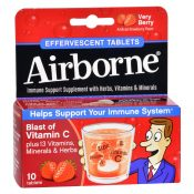 Airborne – Effervescent Tablets with Vitamin C – Very Berry – 10 Tablets – 1562115