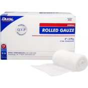 Dukal 2-Ply Sterile Rolled Gauze 3″ x 5yd 12 Count Case Pack 8 – 1303945