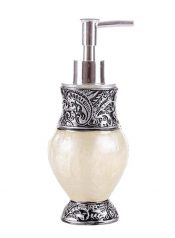 [White] Stylish Resin Shampoo Soap Dispenser Lotion Bottle – BC-BEA11056581-EMMA01725