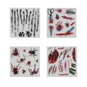 Set of 8 Halloween Scared Tattoo Stickers, Disposable and Waterproof [E] – BC-BEA11058291-IRENE02667