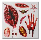 Set of 8 Halloween Scared Tattoo Stickers, Disposable and Waterproof [K] – BC-BEA11058291-IRENE02673