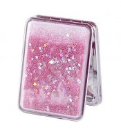 Set of 2 Quicksand Compact Mirrors Portable Double-sided Makeup Mirrors #01 – BC-BEA3785121-EMMA06794