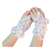Women's Elegant Lace Fingerless Gloves for Wedding Party Brides Accessory – F – DS-BEA11059301-MINT04084