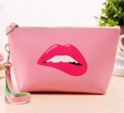 Beautiful Girl Pattern Makeup Case High-grade Cosmetic Bag, Pink – DS-BEA11062771-RAY01153