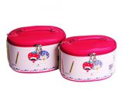 Set of 2 Lovely Elegant Makeup Bag Travel Bags Cosmetics Storage Bags, Pink – DS-BEA11062771-RAY01183
