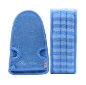 Exfoliating Loofah Back Strap Scrubber Back Washer For Shower,Men & Women,Blue – DS-BEA11149327011-MINT01782