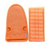 Exfoliating Loofah Back Strap Scrubber Back Washer For Shower,Men & Women,Orange – DS-BEA11149327011-MINT01783