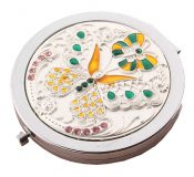 Vintage Metal Folding Mirror Portable Round Small Mirror,A4 – DS-BEA3785121-AIMEE03388