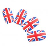 [British Style] Women/Lady Art Nails Set 24 PCS Artificial Nails – EM-BEA11059311-NIKI01451