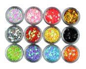 Nail Art Equipment 12 Color Love Heart Shape Glitters Nail Decor – EM-BEA13106071-ARIEL01840