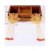 2 Pcs Retro Golden Bridal Hair Pins Wedding Hair Styling Hair Combs, D – GJ-BEA11057971-HERMINE01585