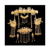 Chinese Ancient Bridal Hair Ornaments Wedding Hair Styling Earrings Sets Accessories Hairpin, #06 – GJ-BEA11057971-HERMINE01604