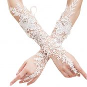Fashion Wedding Fingerless Gloves Bride Dress Lace Flower Gloves – GJ-BEA11059301-ALICE02420