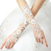 Bridal Wedding Gloves Party Dress Lace Long Gloves A17 – GJ-BEA11059301-LILY03060
