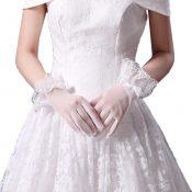Bridal Wedding Gloves Party Dress Lace Short Gloves B09 – GJ-BEA11059301-LILY03072