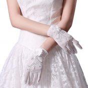Bridal Wedding Gloves Party Dress Lace Short Gloves B17 – GJ-BEA11059301-LILY03080