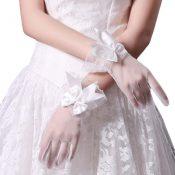 Bridal Wedding Gloves Party Dress Lace Short Gloves B18 – GJ-BEA11059301-LILY03081