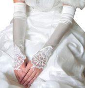 Elegant Wedding Gloves Bride Bridal Party Dress Lace Gloves-04 – GJ-BEA11059301-NANCY00217