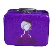 Cosmetics Case Makeup Train Case Cosmetics Organizer Beauty Case -Purple – GJ-BEA11062771-ANNE01554