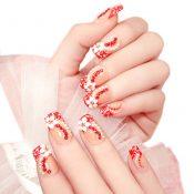 Charming Wedding Bridal French Nails Fake Nail Rhinestones Nail Art Design, #07 – GJ-BEA13106071-HERMINE01715
