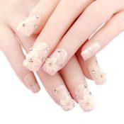 Charming Wedding Bridal French Nails Fake Nail Rhinestones Nail Art Design, #08 – GJ-BEA13106071-HERMINE01716
