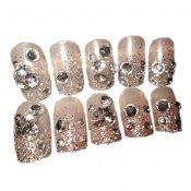 Charming Wedding Bridal French Nails Fake Nail Rhinestones Nail Art Design, #14 – GJ-BEA13106071-HERMINE01722