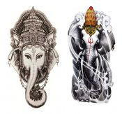 Two Pices Of Elephant Temporary Tattoos Waterproof Stickers – GJ-BEA702384011-NANCY00333