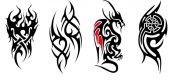 Four Pieces Of Men And Women Tattoos Waterproof Stickers-1 – GJ-BEA702384011-NANCY00338