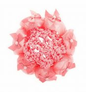 Pack of 2 Girl Hair Accessory Ballet Dance Hair Net With Bowkont, Watermelon Red – GM-BEA7706134011-ZARA01740