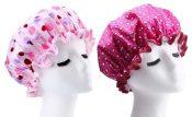 2 Pcs Shower Cap Waterproof Women Kitchen Anti-fume Caps Good Quality [D] – GY-BEA11056571-ERIC00316
