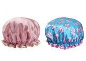 2 Pcs Woman's Cute Shower Cap Big Shower Hat Kitchen Hat – GY-BEA11056571-ERIC03520