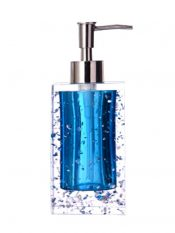 Creative Bathroom Soap Dispensers Bottles Shampoo Container [Blue Ice Flower] – GY-BEA11056581-ERIC03986